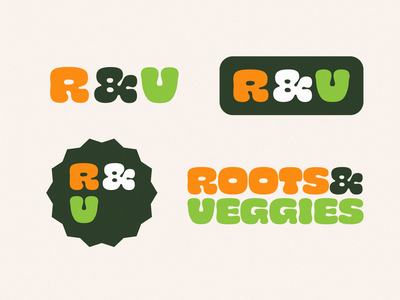Roots & Veggies – secondary logos brand identity wordmark brand design logo design identity design branding and identity branding logo