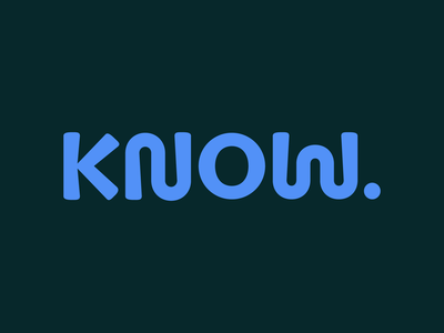 KNOW. logo vector brand identity wordmark brand design logo design identity design branding and identity branding logo