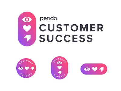 Logo Badges – Pendo Customer Success (1/2) illustrator emblem badge logo badge brand identity logo design logo brand design identity design branding and identity branding