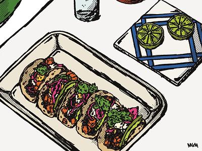Still Life 008 tacos procreate art illustration digital still life illustration still life food illustration food procreate illustration