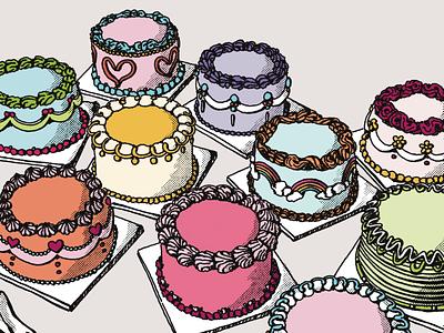 Still Life 007 good illustrations illustration art halftone illustration digital procreate art procreateapp procreate food illustration food cake illustration