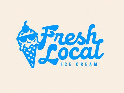 Rebrand –Fresh Local Ice Cream design branding and identity brand identity rebrand illustrator logo design brand design identity design logo branding