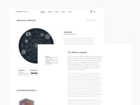 Classy minimal website