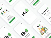 Horizontal8 (Ho8)  Mobile App Onboarding Screens