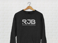 Sweatshirt Mockup for RJB Carpentry & Construction