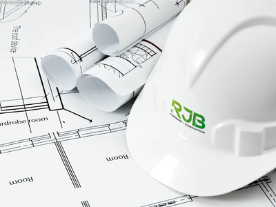 Hard Hat Mockup for RJB Carpentry & Construction