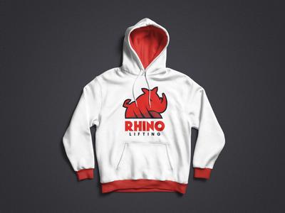 Rhino Lifting Logo - Hoodie mock-up