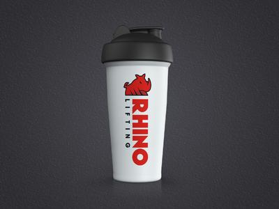 Rhino Lifting Logo - Shaker mock-up