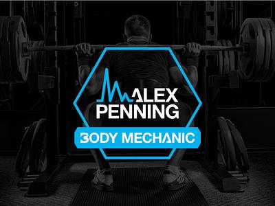Logo Design for Alex Penning - alternative lockup fitness typography training gym branding rebrand personal trainer logo logo design adobe