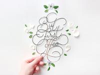 Paper cut lettering