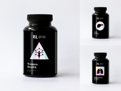 Kyo Life - Supplement Package Design label design design print design medicine packaging gradient supplement packaging package design