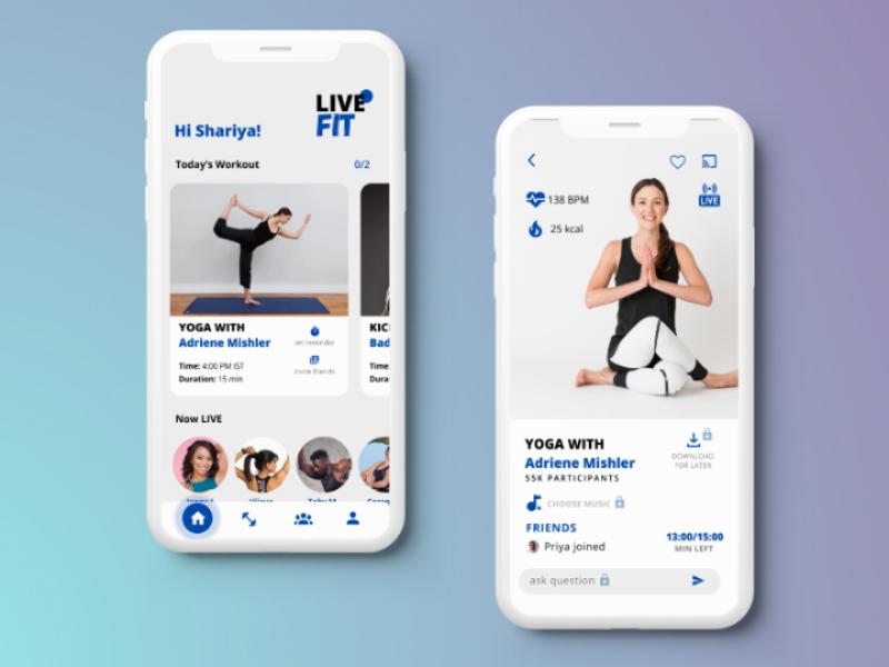 Live Fit- A Workout App Concept design inspo app design workout app fitness app ux ui uiux