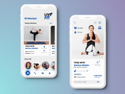Live Fit- A Workout App Concept design inspo app design workout app fitness app ux ui uiux