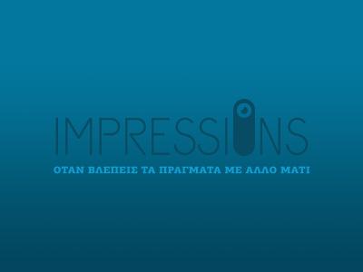Impressions logo logo mark eye looking impressions identity