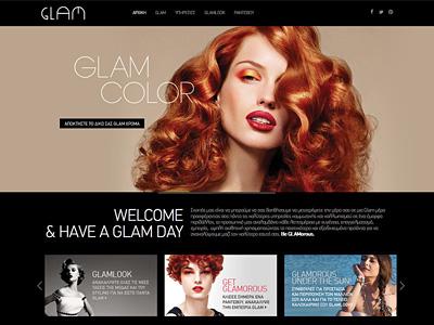 Glam Hair Salon glam image slider website web design hair salon color