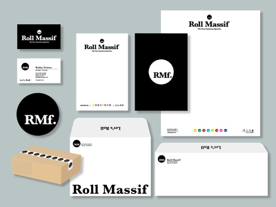 BeneskiDesign RollMassif Correspondence letterhead design print design branding design