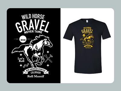 BeneskiDesign RollMassif WildHorseGravel Tshirt merchandise design logo branding design