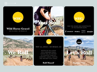 BeneskiDesign RollMassif WildHorseGravel Instagram digital advertising branding design