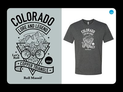 BeneskiDesign RollMassif CopperTriangle Tshirt merchandise branding design