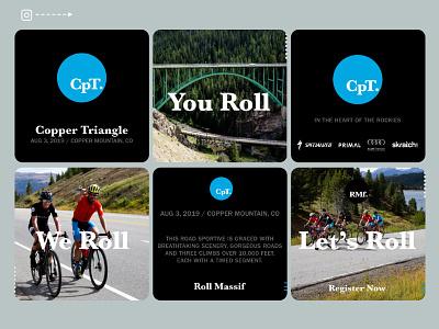 BeneskiDesign RollMassif CopperTriangle Instagram digital advertising branding design
