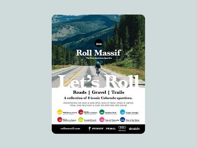 BeneskiDesign RollMassif VeloNews Ad Road print design branding design