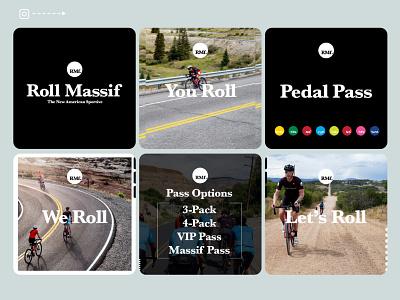 BeneskiDesign RollMassif PedalPass Instagram digital advertising branding design