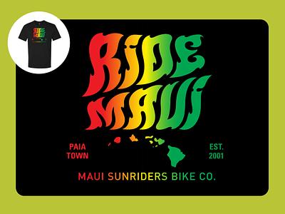 Ride Rasta screen print design illustration