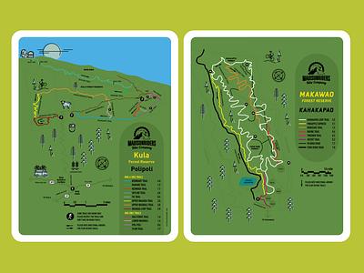 Mountain Bike Trail Maps map illustration vector illustration print design branding design