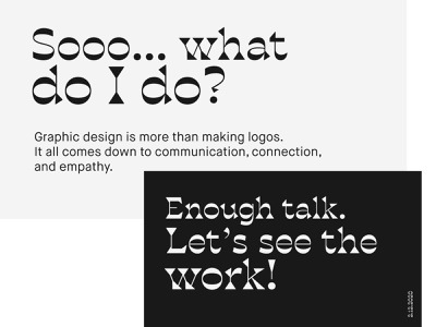Career Day Continued typography presentation design