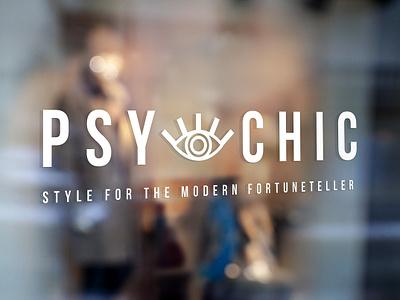 Psy-Chic typography brand identity design