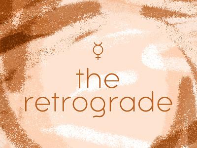Retrograde astrology design typography
