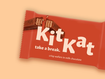 take a break. chocolate bar chocolate packaging brand weekly warm-up design