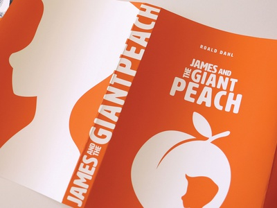 James and the Giant Peach peach james and the giant peach roald dahl book cover design book cover design typography