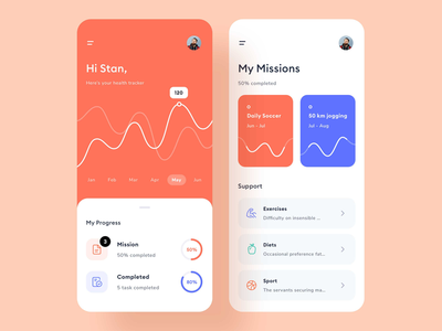 Health tracking app android ios user experience user interface brand design ui design fresh colors cool design typography branding app design mobile design mobile app design health app ux ui