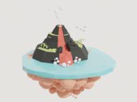 Floating Island Volcano