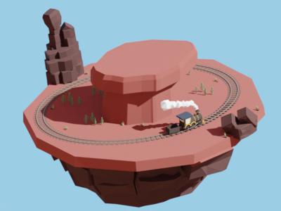 Desert island train