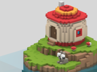 Mush House - Voxel Art