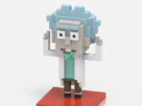 """Tiny Rick"" in Voxel Art"