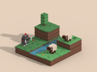 Robot vs Sheep - Crossy Road