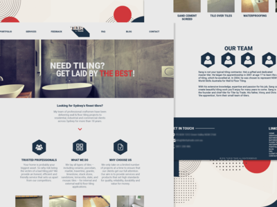 Redesign concept for a construction website