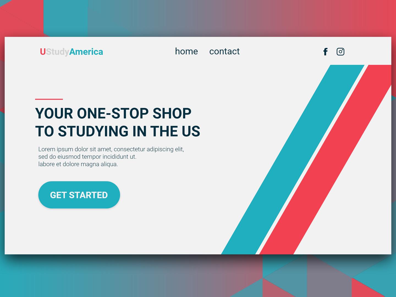 Redesign concept for education website ui redesign concept redesign adobexd photoshop design concept webdesign
