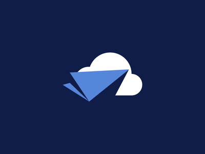 Flat/Simple Icon flat simple icon mark logo send cloud