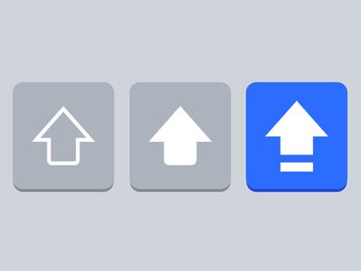 iOS Shift key