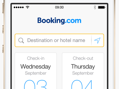 Booking.com iPhone app