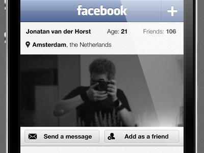 Facebook UI redesign V2