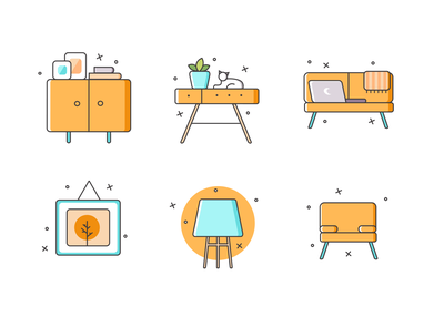 Free Furniture Icons Set