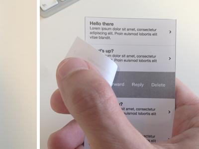 Peel Back paper peel prototype