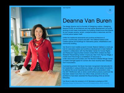 Black in Design Conference • Speaker Page website design