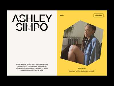 Ashley Simpo branding web typography website design design