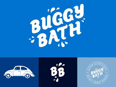 Buggy Bath Hypothetical Redesign custom type wordmark redesign hand lettering vector illustration design